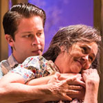 Rafael Goldstein (Chris Keller) and Deborah Strang (Kate Keller) in All My Sons.