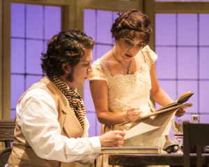 Rafael Goldstein (Septimus Hodge) and Erika Soto (Thomasina Coverly). Photo by Craig Schwartz.